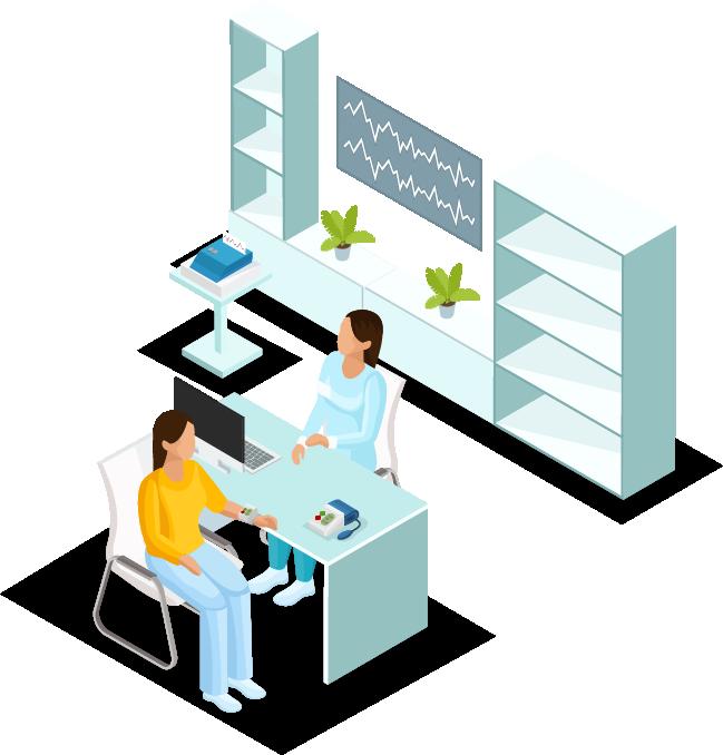 centro medico illustration